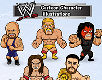 WWE character illustrations