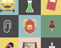 20 School Icons Package