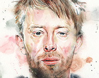 Illustration - Thom Yorke Watercolor