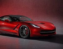 Corvette C7 Unreal Engine 4 RTX ON