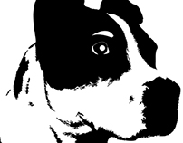 Black and white print/wallpaper design