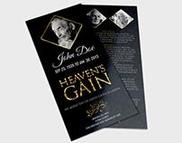 Funeral Program Template Vol.2