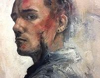 Self-Portrait (Blue Jacket)