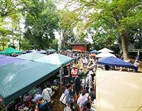 Morning Market at the Japanese Shrine 2014