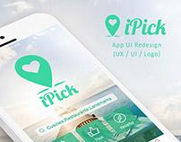 iPick App UI Redesign (UX / UI / Logo)