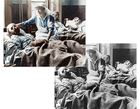 Colorisation of a First World War photograph