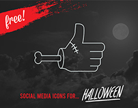 FREE VECTOR HALLOWEEN SOCIAL ICONS