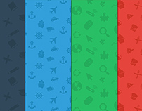 Icon Pattern Backgrounds Freebie