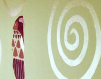 Art of wall with Gustav Klimt