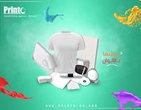 """Printo"" designs for social media"