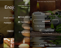 Modern App Sign In UI and Login UI Screen Designs