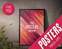 Posters Mock-Ups (5 PSD)