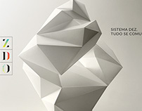 paper geometric sculpture