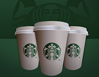 Starbucks Coffe Cup icon - Free .PSD File!