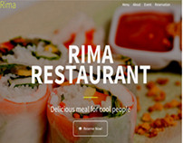 Rima Restaurant Page