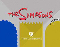 The Simpsons FXX Launch Artwork