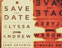 Wedding Save the Date Stamp