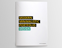 Minimal Portfolio Booklet