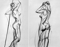sketches of nudes