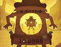Illustration for children magazine - October