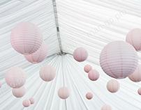 Yard for wedding ceremony
