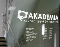 "Logo Language School ""Akademia"" in Ruda Śląska"