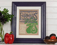 Farmers Market Collection - Block Print
