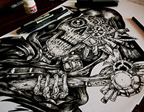 Steampunk Reaper- Tattoo commision