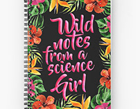 Notebook Design Wild Notes from a Science Girl
