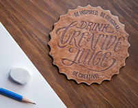 Creative Juice Coaster