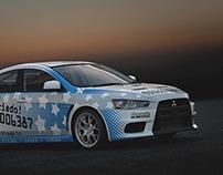 Mitsubishi EVO 10 Rally