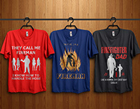 Fire Fighter T-Shirt Design