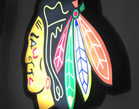 Chicago Blackhawks LED Sign