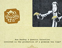Premium tea logo & stencil version