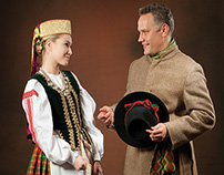 Postcard set: Lithuanian Folk Costume