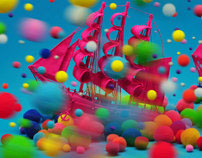 """""""A colourful voyage"""" Mixed Media illustration"""