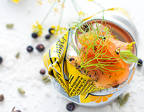 Salmon marinated with gin