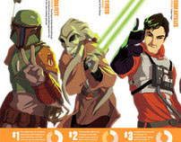 "Star Wars: ""Unlikely Heroes"" illustration for SciFi Now"