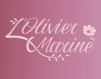 Logotype for flower shop L'Olivier Marine