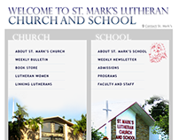 Donated web site for St. Mark's Church and School