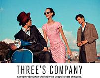Three's Company for Esquire Singapore