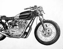 Yamaha XS650 Clutch Custom Motorcycles