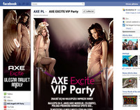 AXE Excite vip party FB app
