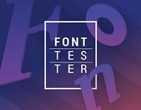 Fonttester. Typeface app