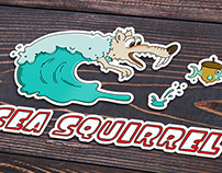 """Sea Squirrel"" boat sticker"