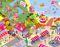Pink Lady Facebook Game.
