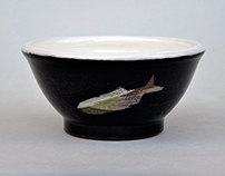 Salmon Bowls: Stoneware