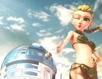 Princess Leah & R2D2