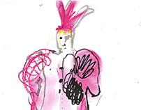 Elsa Schiaparelli Fall 2014 couture / illustration