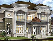 Desain Arsitektur Rumah Klasik di Pakuwon Surabaya